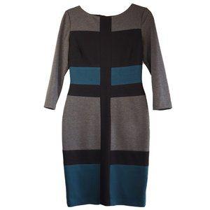 Maggy London | Gray Black Green Dress